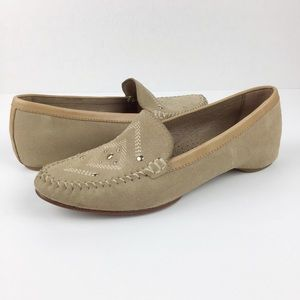 Donald J Pliner Tan Embellished Loafer l 5.5